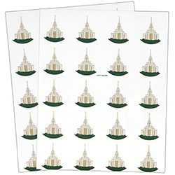 Oquirrh Temple Stickers - 40 count oquirrh temple stickers, oquirrh temple, utah temple stickers, utah temple colored stickers