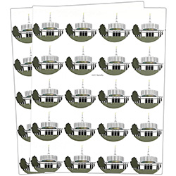 Provo Temple Stickers - 40 count provo temple stickers, provo temple, utah temple stickers, utah temple colored stickers