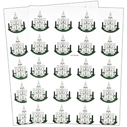 St. George Temple Stickers - 40 count st george stickers, st george temple, utah temple stickers, utah temple colored stickers
