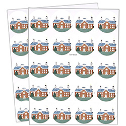 Vernal Temple Stickers - 40 count vernal stickers, vernal temple, utah temple stickers, utah temple colored stickers