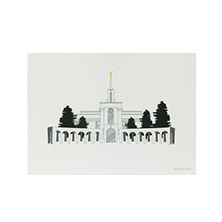 Bountiful Temple Print - 5x7 bountiful temple print, bountiful temple sketch, utah temple sketch, utah temple color sketch