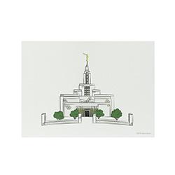 Draper Temple Print - 5x7 draper temple print, draper temple sketch, utah temple sketch, utah temple color sketch