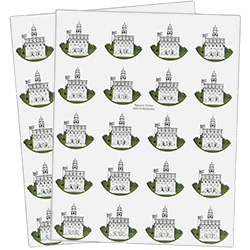 Nauvoo Temple Stickers - 40 count nauvoo stickers, nauvoo temple, utah temple stickers, utah temple colored stickers
