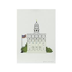 Nauvoo Temple Print - 5x7