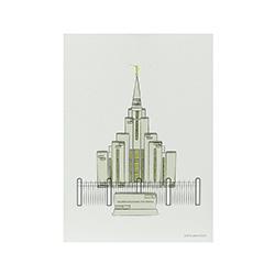 Oquirrh Temple Print - 5x7