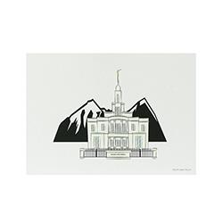 Payson Temple Print - 5x7