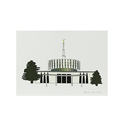 Provo Temple Print - 5x7