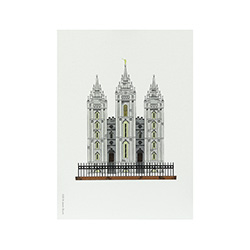 Salt Lake City Temple Print - 5x7 salt lake city temple print, salt lake city temple sketch, utah temple sketch, utah temple color sketch