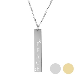 Peace In Christ Verticle Bar Necklace - LDP-VBN136