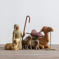 Willow Tree Shepherd and Stable Animals (set of 4)