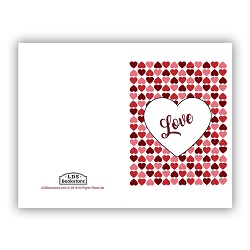 Heart Grid Valentine's Day Card - Printable
