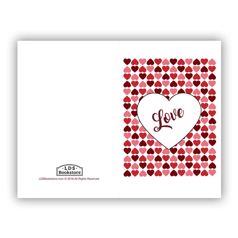 graphic regarding Happy Valentines Day Printable titled Middle Grid Valentines Working day Card - Printable within No cost LDS