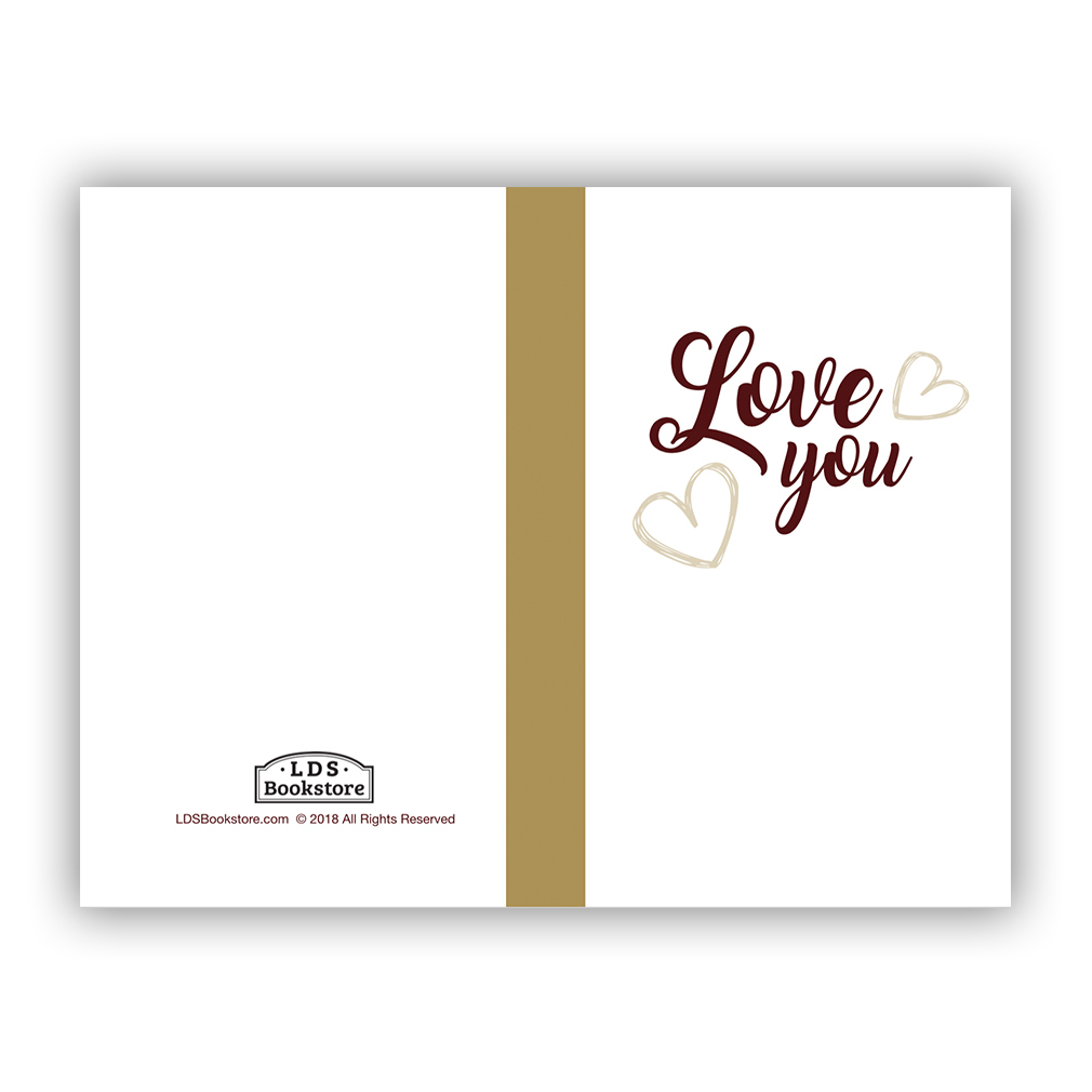 graphic regarding I Love You Because Printable known as Delight in By yourself Valentines Working day Card - Printable in just Cost-free LDS