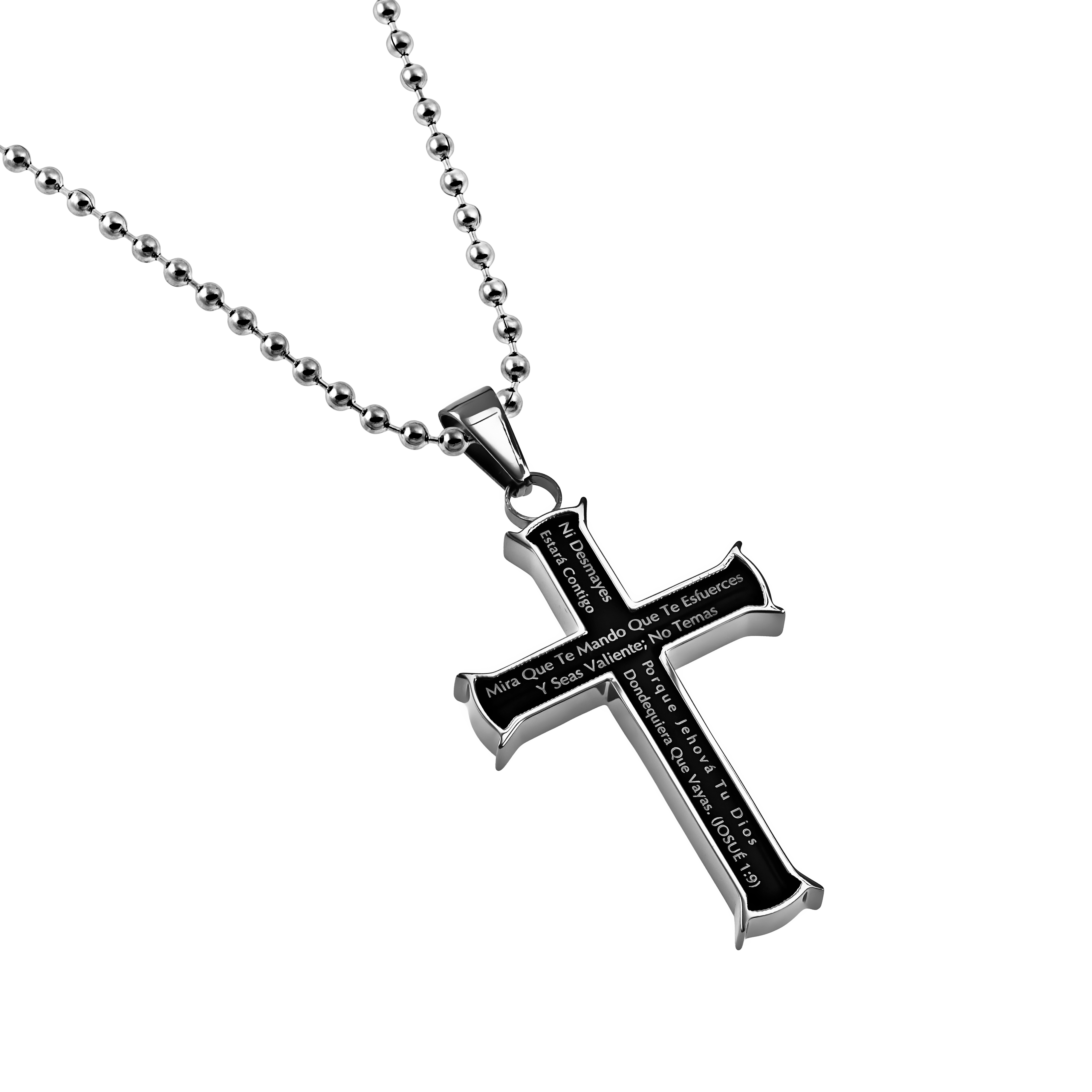 Courage Black Iron Cross Necklace