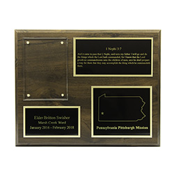 Missionary Plaque REPLACEMENT PLATES - LDP-REPLACEMENTPLATE