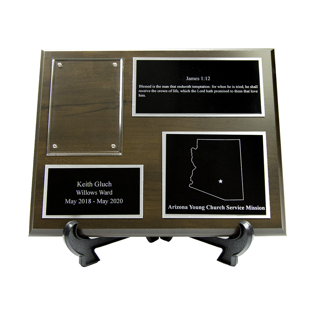Missionary Plaque 8x10 - 3 Plates - LDP-MP8x10-3