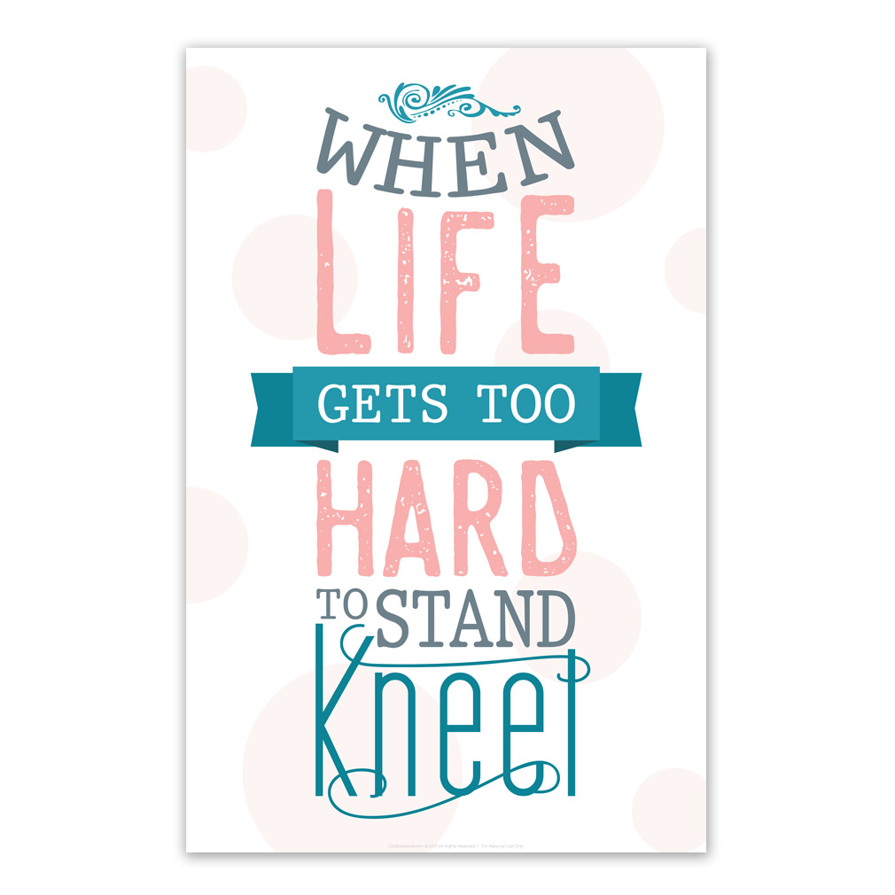 When Life Gets Too Hard To Stand Poster Pink Printable In Posters