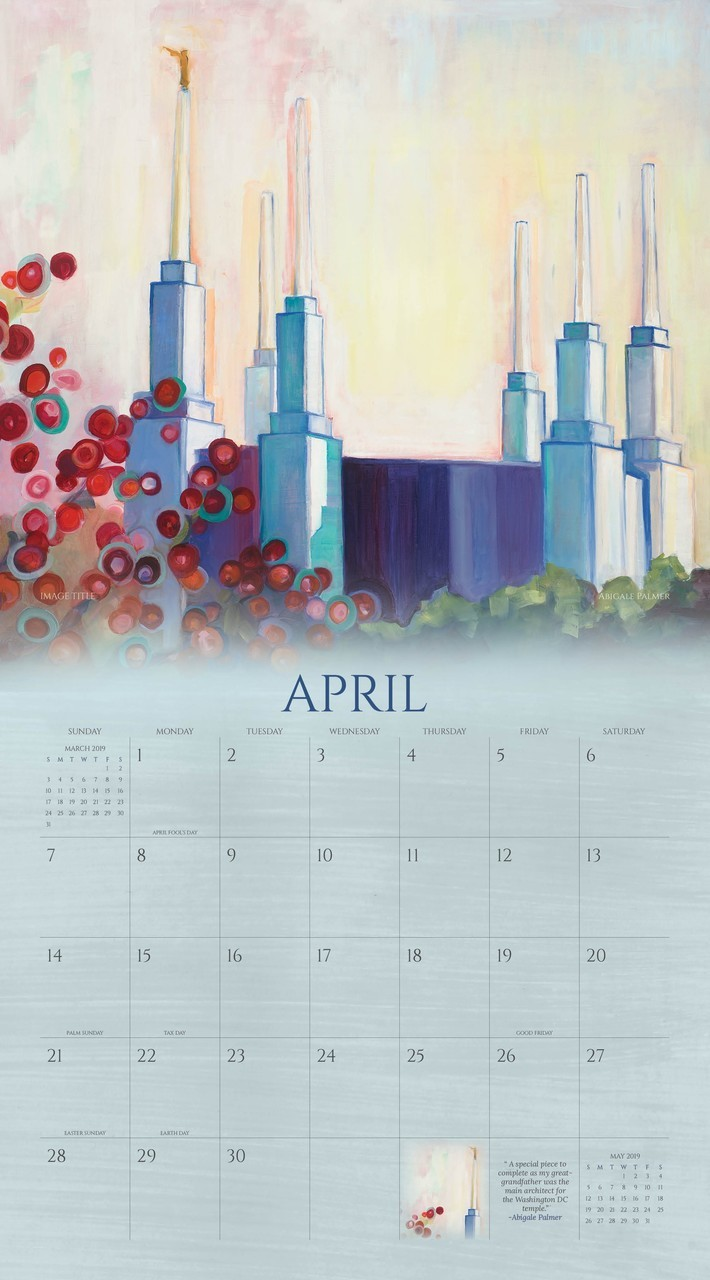 2019 Sacred Moments Calendar - Abigale Palmer - AFA-APCAL2019