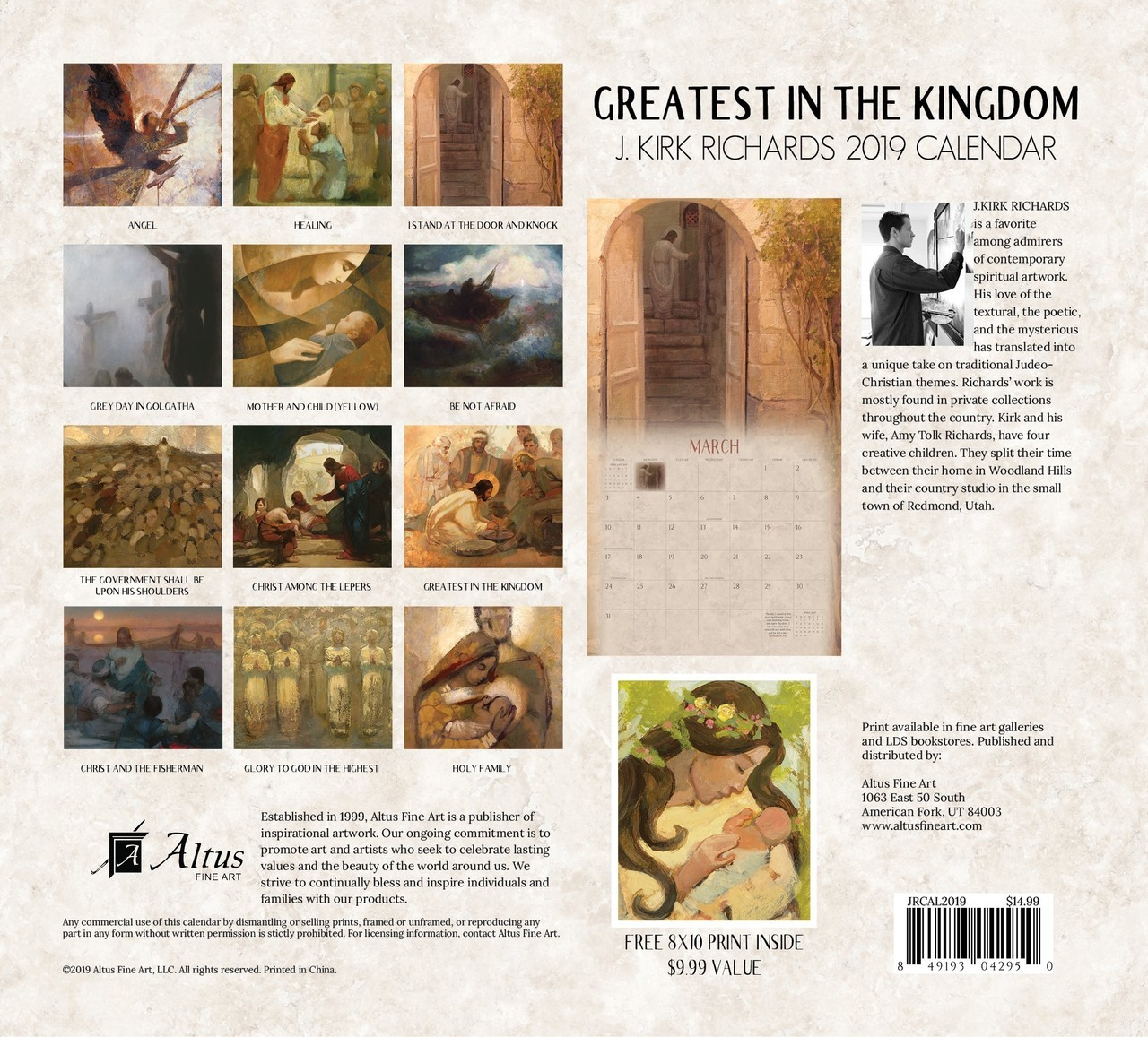 2019 Greatest in the Kingdom Calendar - J. Kirk Richards - AFA-JRCAL2019