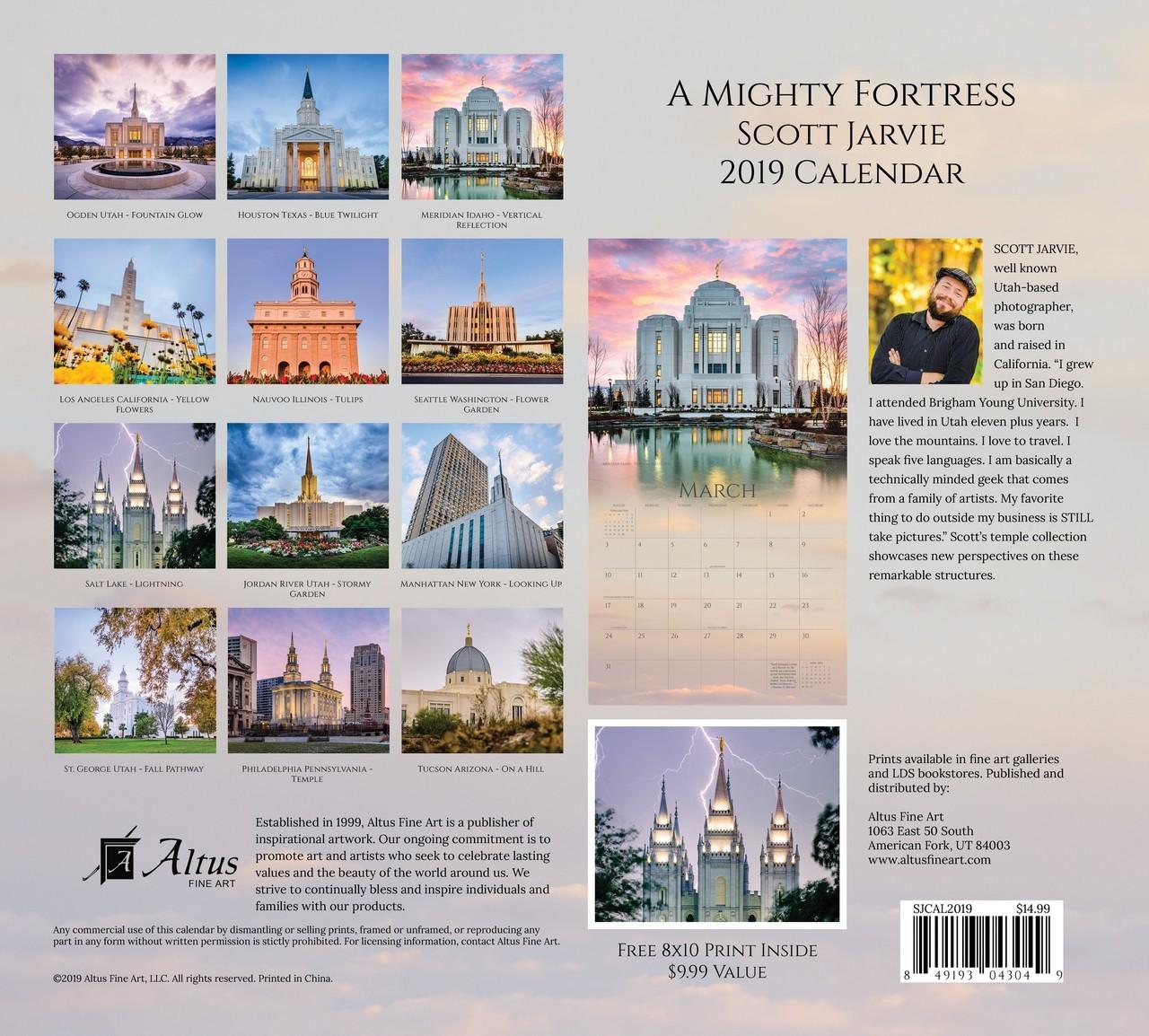 2019 A Mighty Fortress Temple Calendar - Scott Jarvie - AFA-SJCAL2019