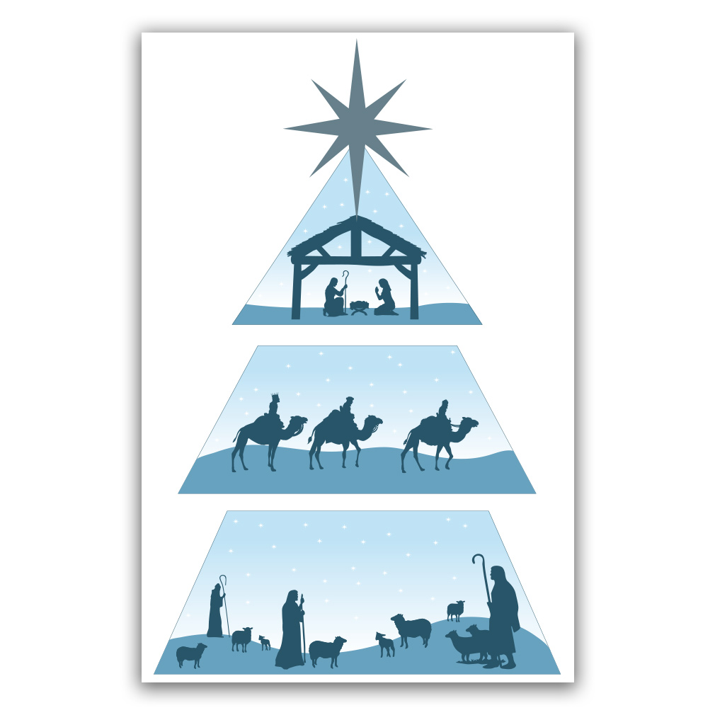 Missionary Christmas Tree Poster - Nativity