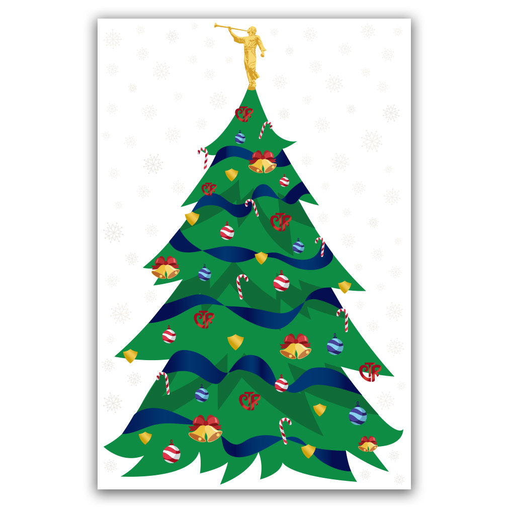 Missionary Christmas Tree Poster - Traditional