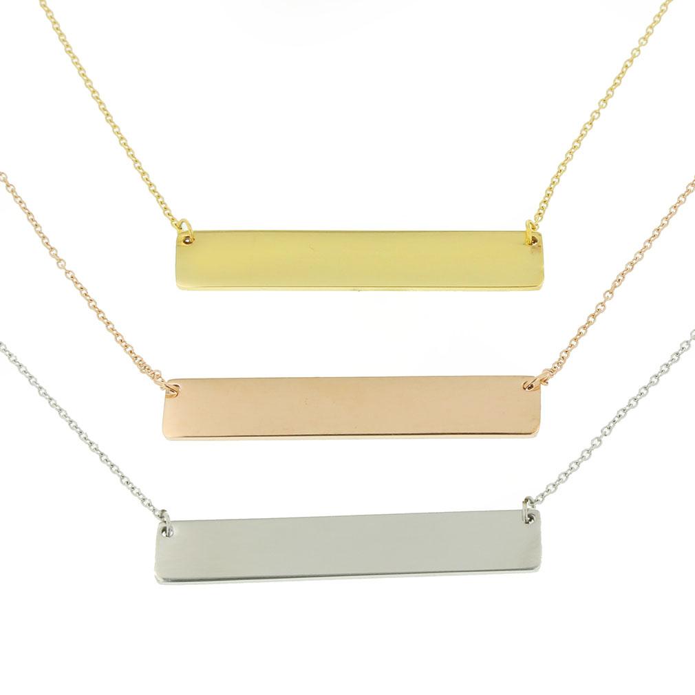 customizable horizontal bar necklace ldp hbn1039 make. Black Bedroom Furniture Sets. Home Design Ideas