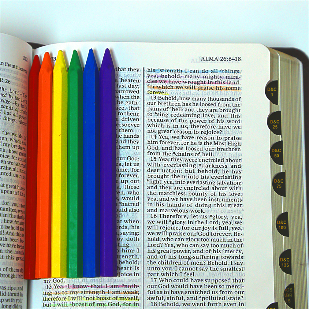 Erasable Scripture Marking Crayons 6 Pack - EMA-29270