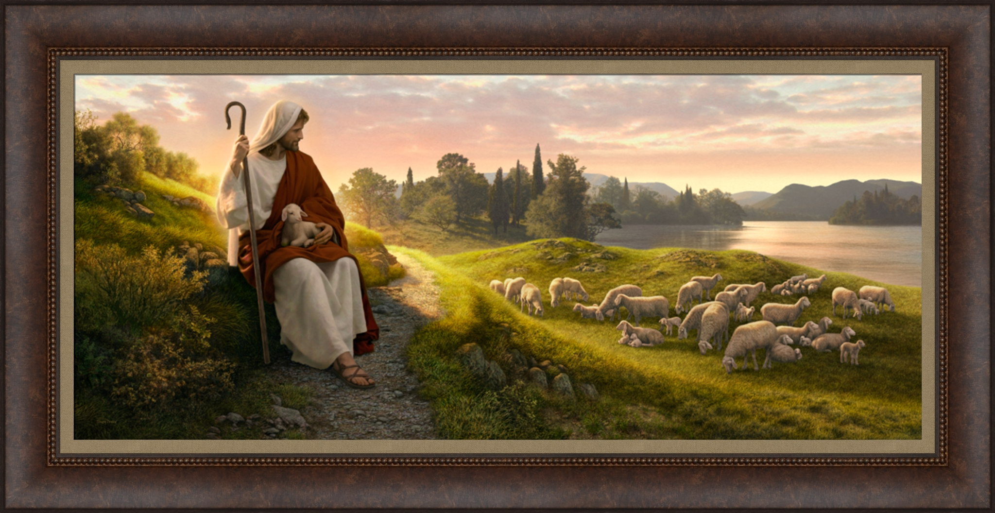 Dear to the Heart of the Shepherd - Framed - D-AFA-SD-DHS
