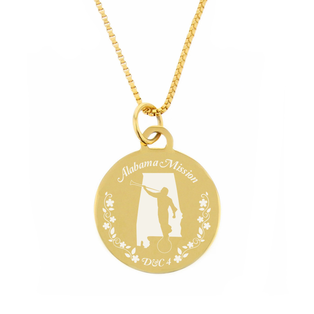 Alabama Mission Necklace - Silver/Gold - LDP-CPN40