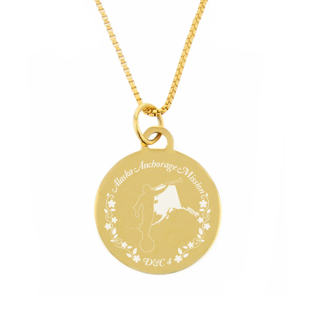 Alaska Mission Necklace - Silver/Gold - LDP-CPN41