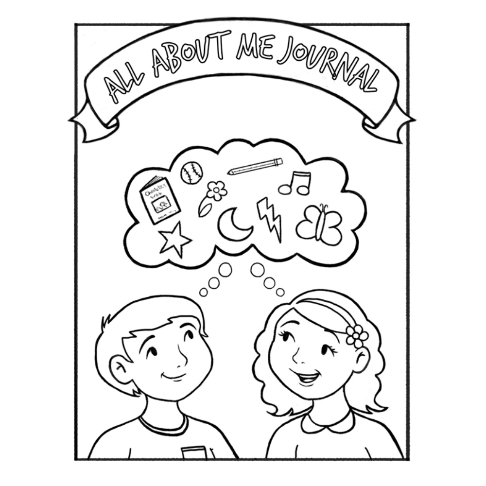 All About Me Children\'s Coloring Journal in Activity | LDSBookstore ...