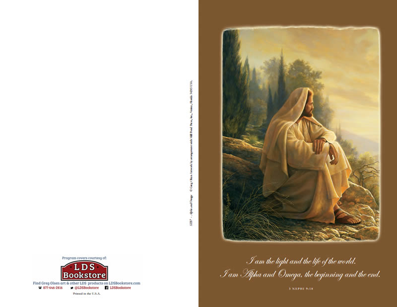 Alpha And Omega Lds Program Covers By Ldsbookstorecom