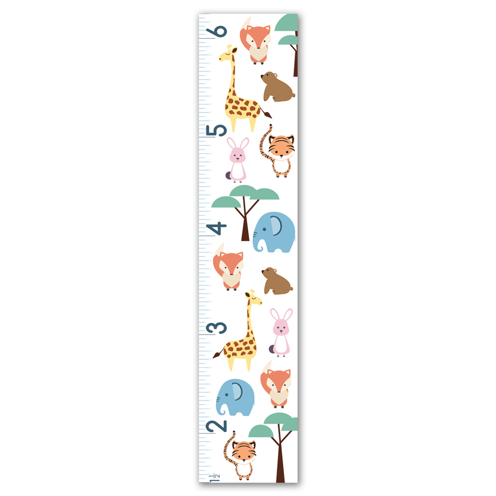 Childrens Growth Chart - Animal Safari