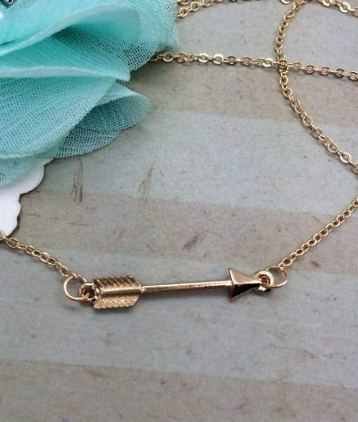Arrow Necklace - Gold - DBS-MJ87G