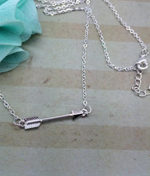 Arrow Necklace - Silver - DBS-MJ87S