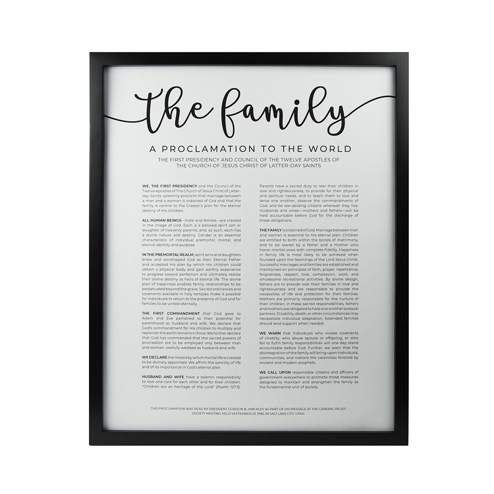 Framed Family Proclamation - 16x20