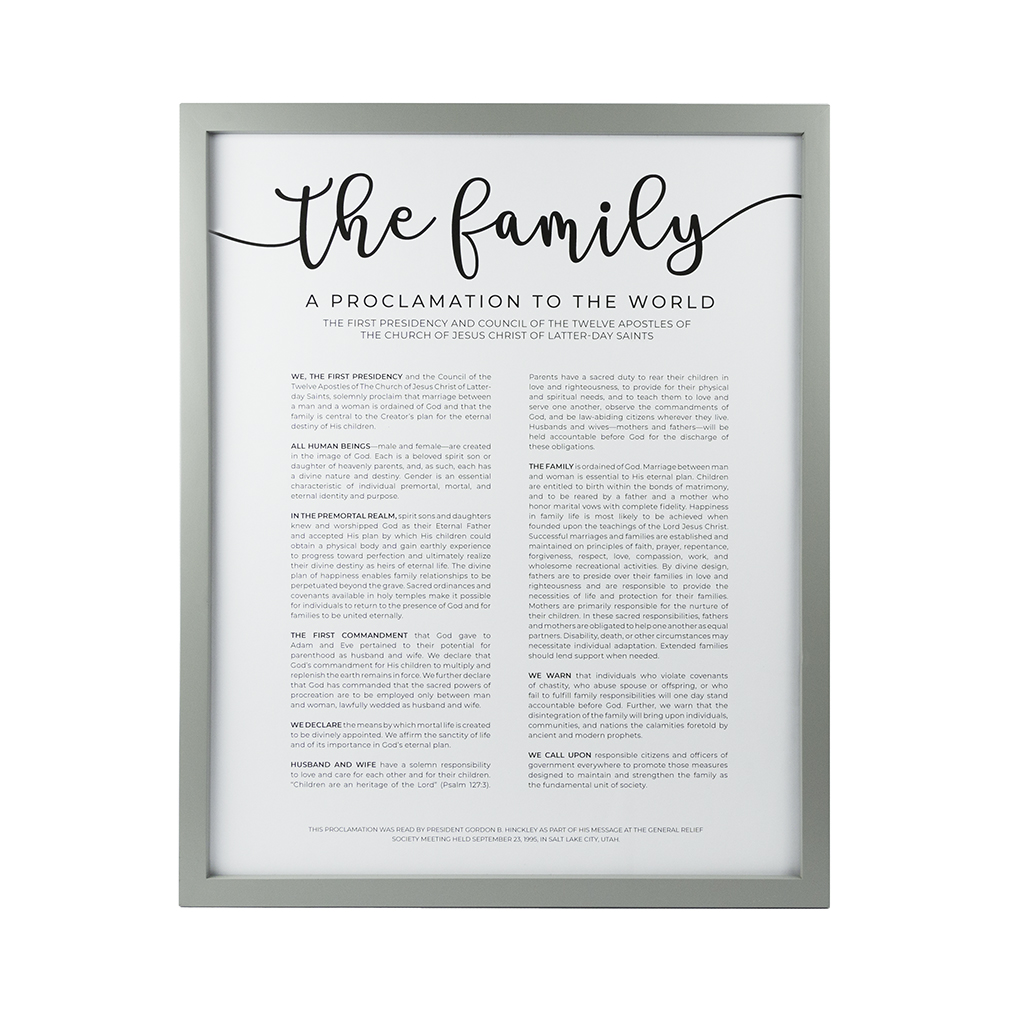 Framed Family Proclamation - Modern - LDP-FR-ART-FAMPROC-MODERN