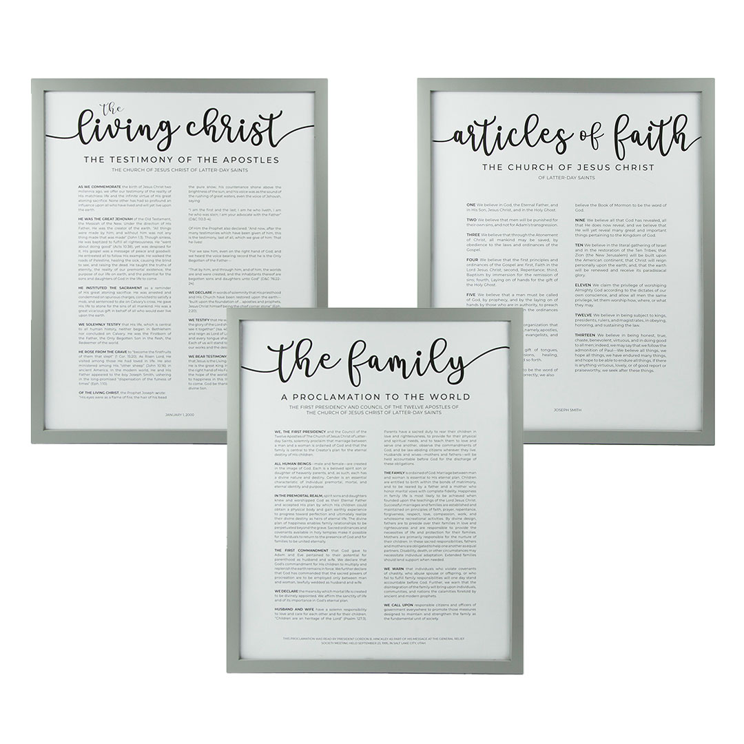 Framed Church Proclamations Pack - Modern - LDP-FR-ART-CP3PAK-MODERN
