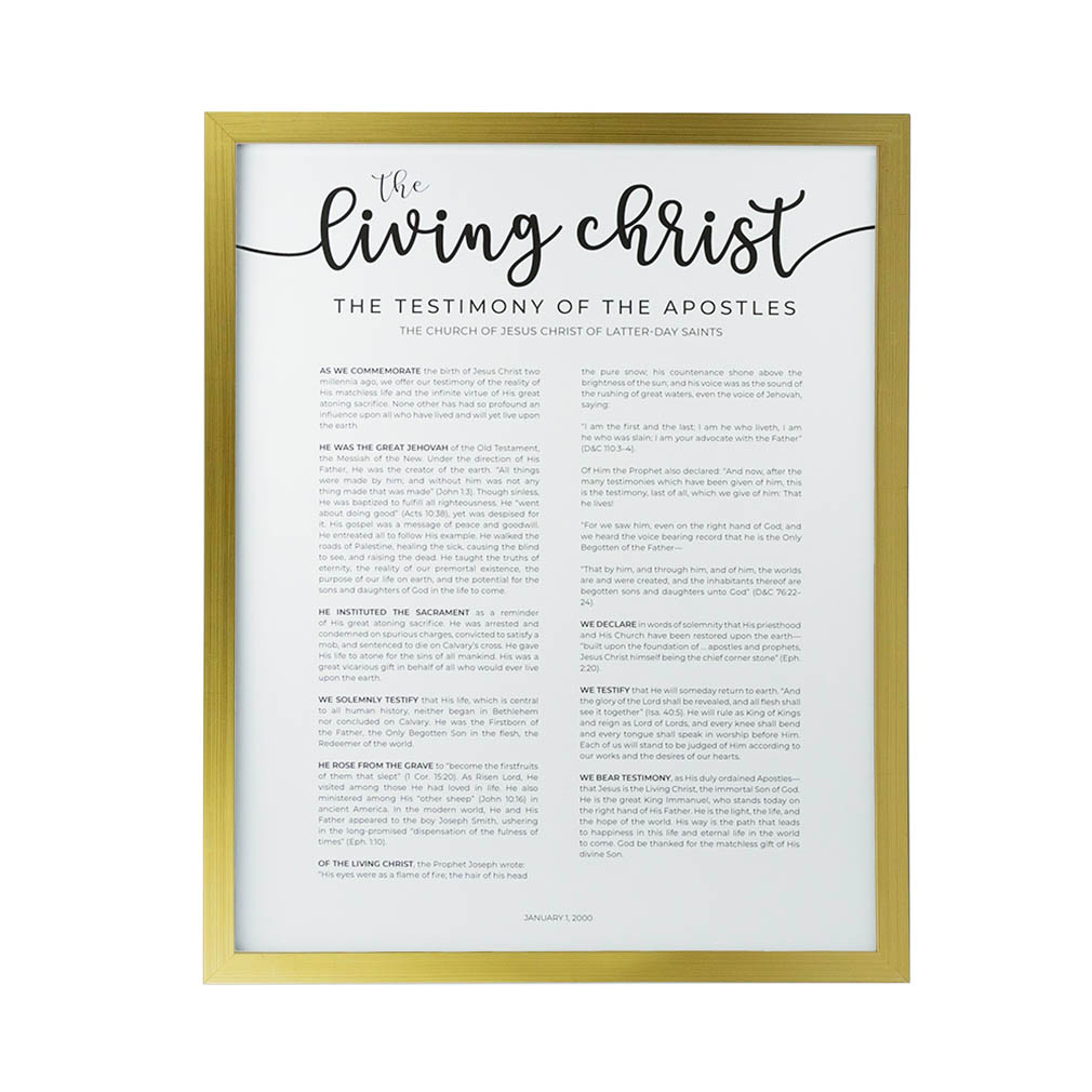 Framed Living Christ - Modern - LDP-FR-ART-LIVCHR-MODERN