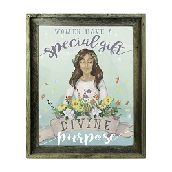 Divine Purpose of Women Fine Art Print - Barnwood lds illustrations, lds fine art, lds women, lds mothers day gifts, lds young women, lds art, lds decor