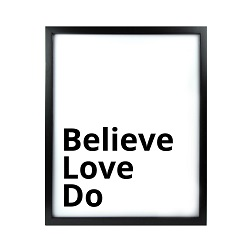 Believe Love Do LDS Quote Wall Art - Modern