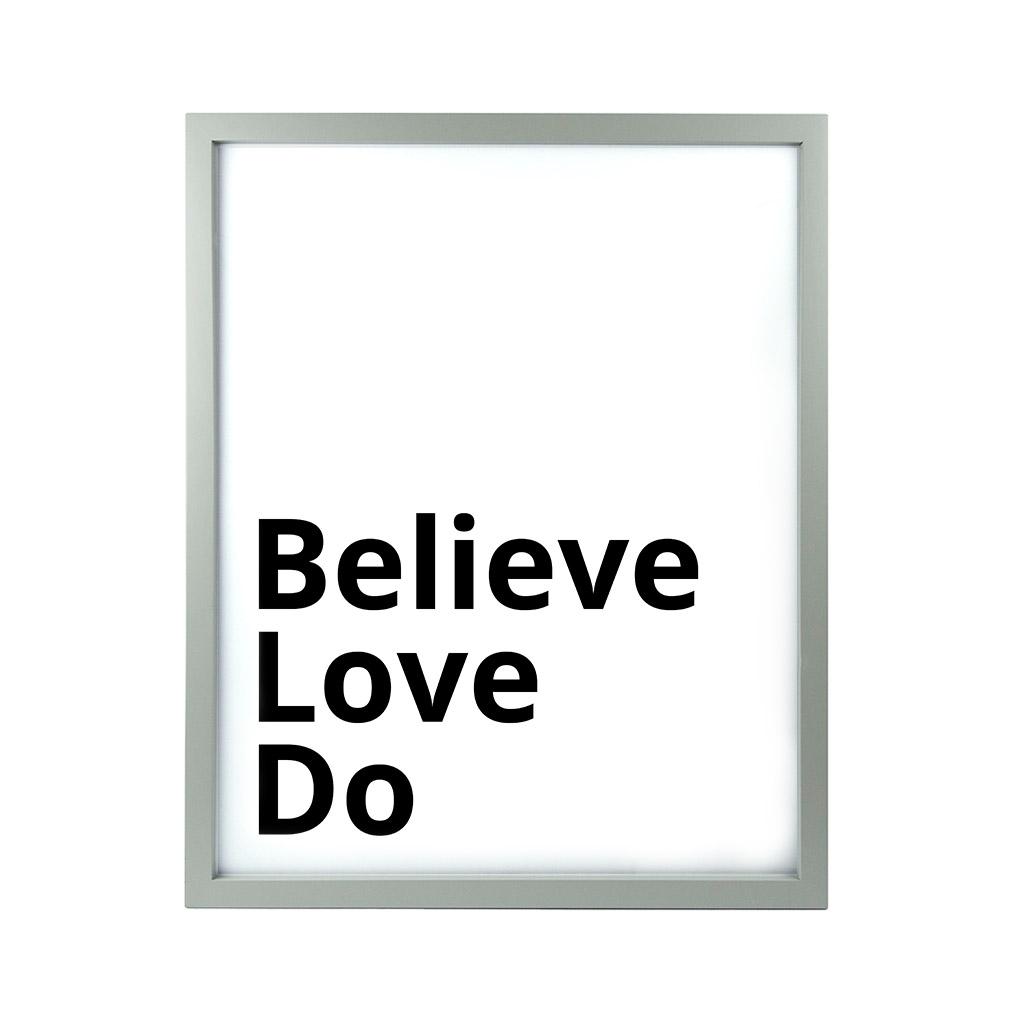 Believe Love Do LDS Quote Wall Art - Modern - LDP-ART-QUOTE-BLD
