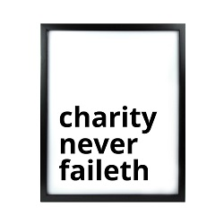 Charity Never Faileth LDS Quote Wall Art - Modern