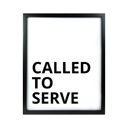 Called to Serve LDS Quote Wall Art - Modern Called to Serve LDS Quote Wall Art, lds quote wall art, lds wall art, framed lds quote