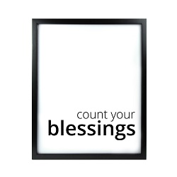 Count Your Blessings LDS Quote Wall Art - Modern
