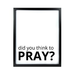 Did You Think to Pray LDS Quote Wall Art - Modern