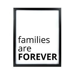 Families Are Forever LDS Quote Wall Art - Modern
