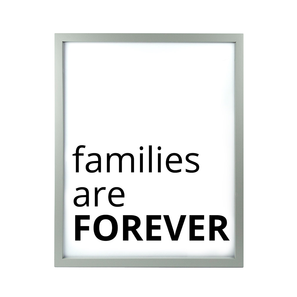 Families Are Forever LDS Quote Wall Art - Modern - LDP-ART-QUOTE-FAF