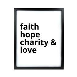 Faith Hope Charity & Love LDS Quote Wall Art - Modern Faith Hope Charity & Love LDS Quote Wall Art, lds quote wall art, lds wall art, framed lds quote